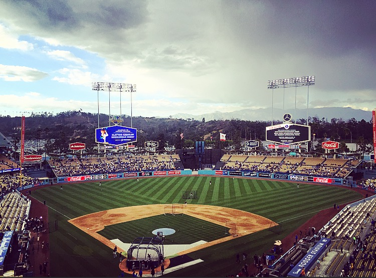 Clouds over Dodger Stadium