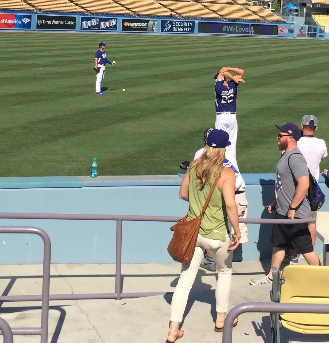 Clayton Kershaw Stretching
