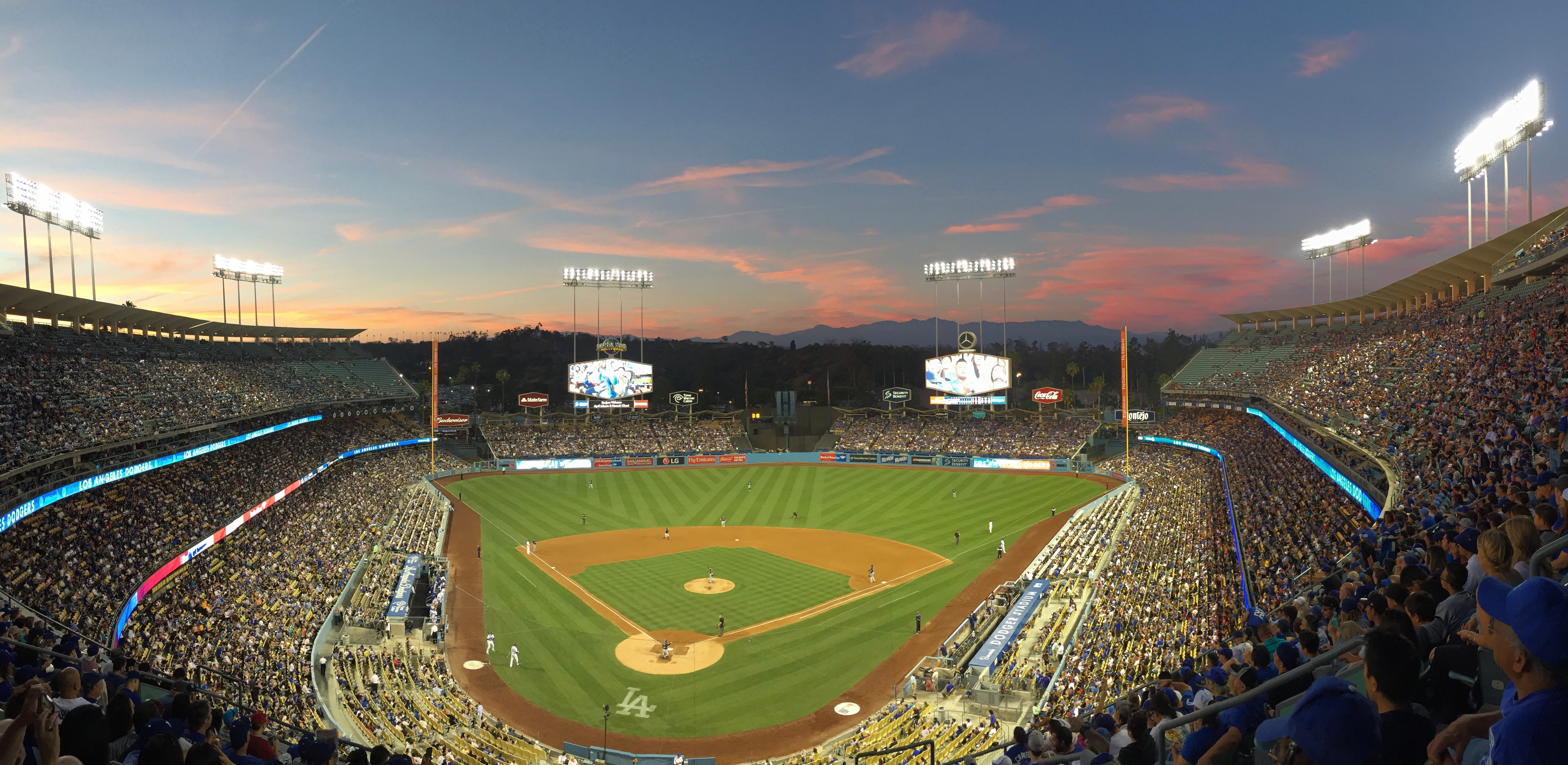 Sunset at Dodger Stadium
