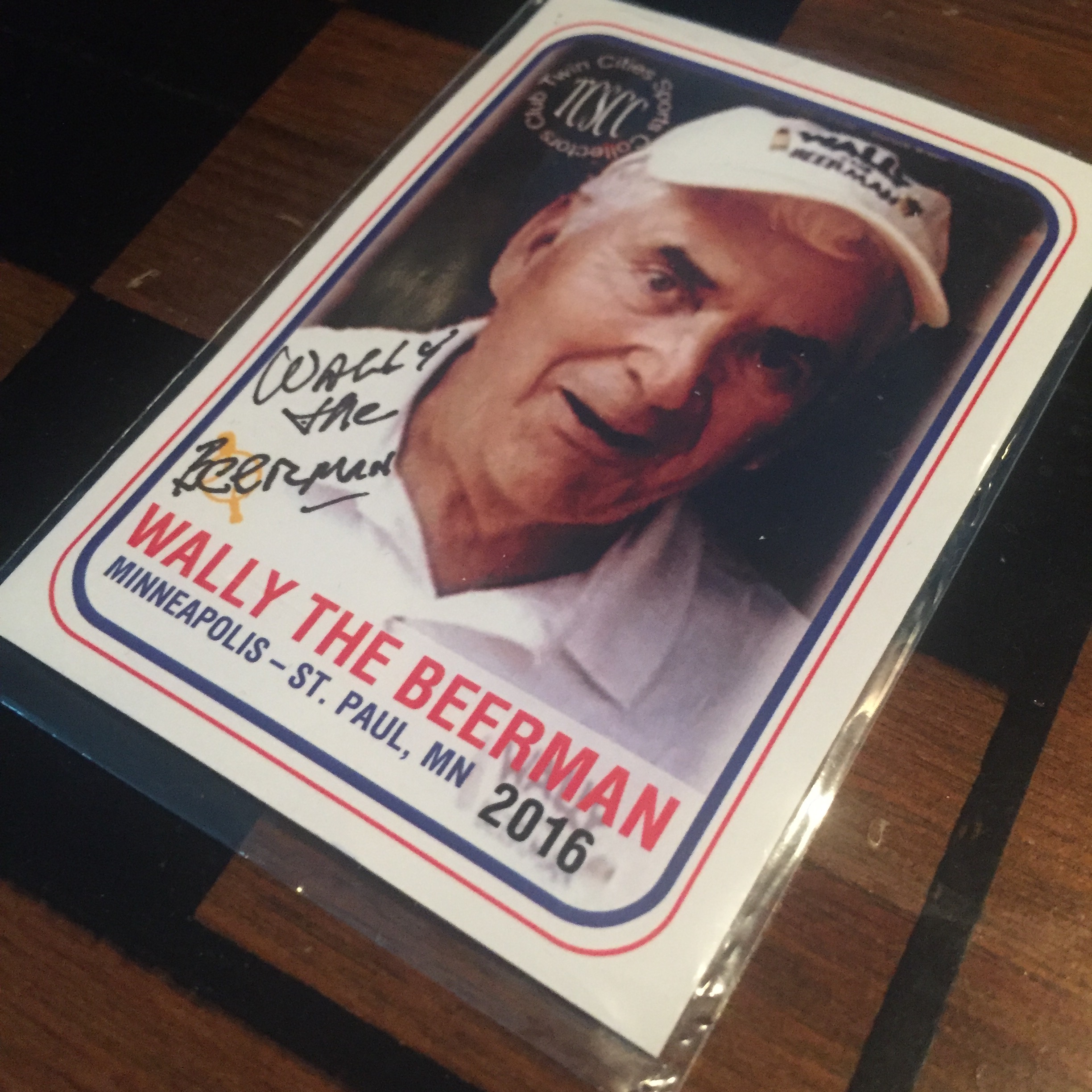 WALLY THE BEERMAN BASEBALL CARD